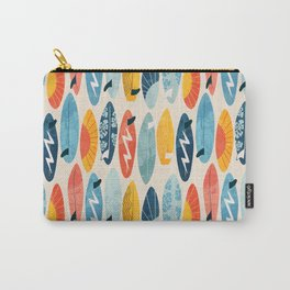 Surfboard white  Carry-All Pouch