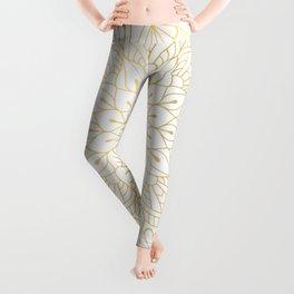 The Golden Mandala Illustration Pattern Leggings