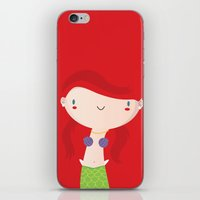 ariel iPhone & iPod Skins featuring Ariel by Maria Jose Da Luz