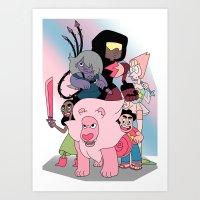 steven universe Art Prints featuring Steven Universe by Laura Pulido
