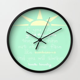 Roald Dahl Quote Wall Clock