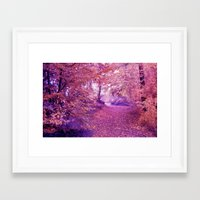 wander Framed Art Prints featuring wander by Luiza Lazar