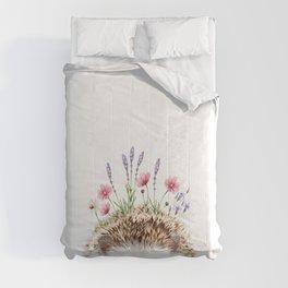 Hedgehog with Flower Crown Comforters