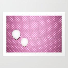 white balloons Art Print