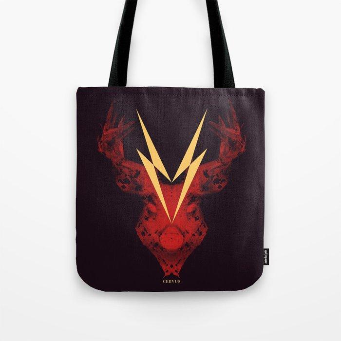 Cervus (Lightning Bolt Version) Tote Bag