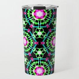 Color Burst Pattern Travel Mug