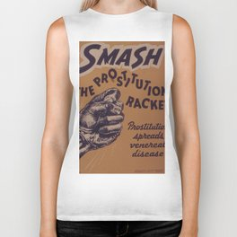Vintage poster - Smash the prostitution racket Biker Tank