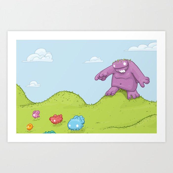 Marshmallow Hunting Art Print