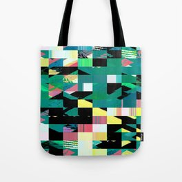 Pixel Dust Green  Tote Bag