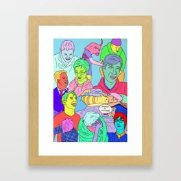 BoysBoysBoys Framed Art Print