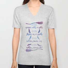 my momma, your momma, flying on a switch Unisex V-Neck