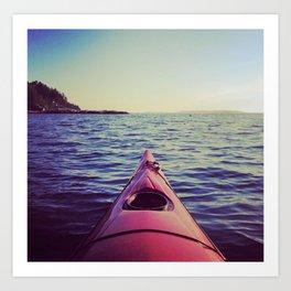 Maine Kayaking Art Print