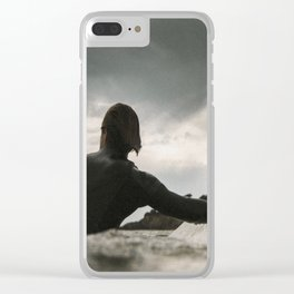 Surf grey photo Clear iPhone Case