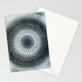 WINTER LEAVES MANDALA Stationery Cards