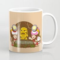indiana jones Mugs featuring Indiana Toads by Randy van der Vlag
