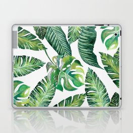 Jungle Leaves, Banana, Monstera #society6 Laptop & iPad Skin