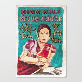 Begum Akhtar Canvas Print