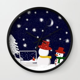 Christmastime 1 Wall Clock