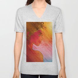 Independent Woman Sunset Unisex V-Neck