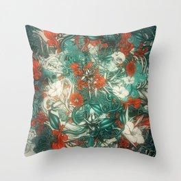Sixth Mix Blue Throw Pillow