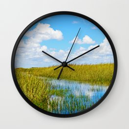 Florida Welands Wall Clock