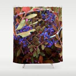 Alien landscape autumn berry surreal plants Shower Curtain