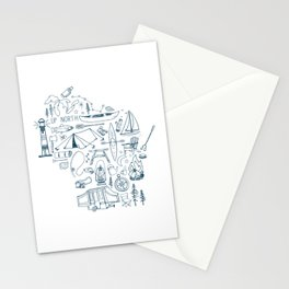 Wisconsin Up North Collage Stationery Cards