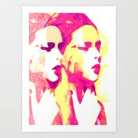 faces Art Prints featuring Faces by Paola Rassu
