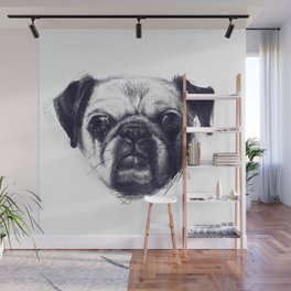 The Pug Knows All Wall Mural