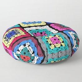 Granny Square Floor Pillow