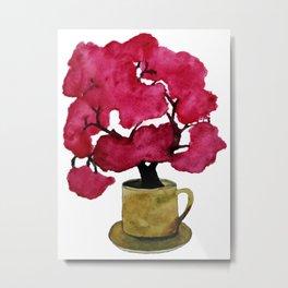 Cherry blossom Tree in Mug Metal Print