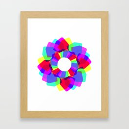 techno dudes flower Framed Art Print