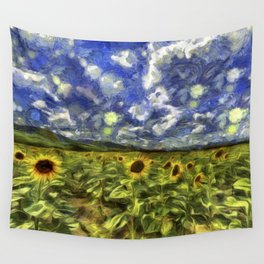 Summer Sunflowers Van Gogh Wall Tapestry