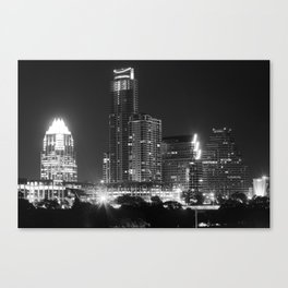 Austin - B&W Canvas Print