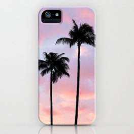 Palm Trees Sunset Photography iPhone Case