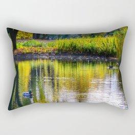 autumn at the pond Rectangular Pillow