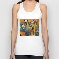 elephants Tank Tops featuring Elephants by Jonas Ericson