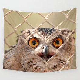 Owl eyes Wall Tapestry