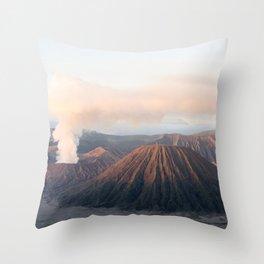 Volcanic Sunrise Throw Pillow
