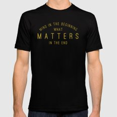 Mind What Matters Mens Fitted Tee Black X-LARGE