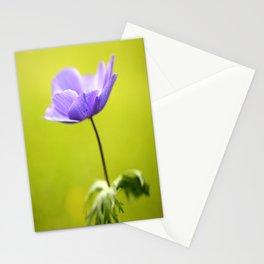 Purple Anemone Natural Green Background #decor #society6 #buyart Stationery Cards