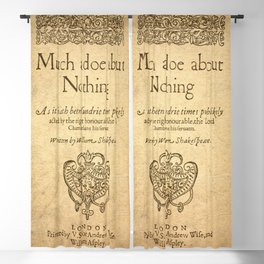 Shakespeare. Much adoe about nothing, 1600 Blackout Curtain
