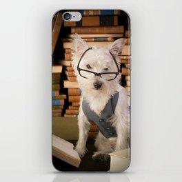 Teacher Dog Westie Among Books iPhone Skin