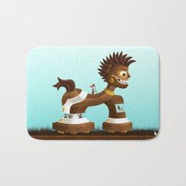 Trojanix, the lion-horse. Bath Mat