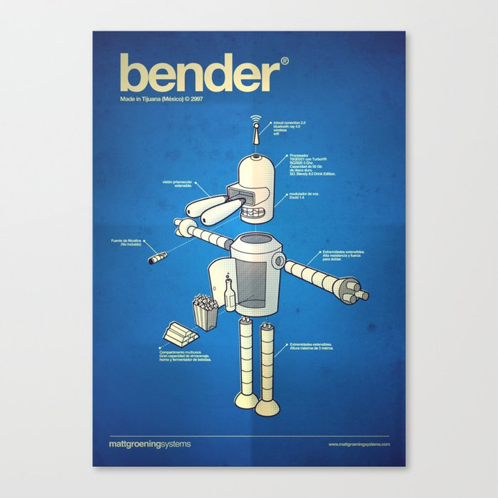 Bender Canvas Print