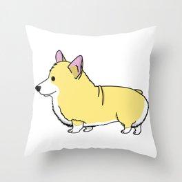Carl the Cartoon Corgi Throw Pillow