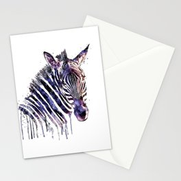 Zebra Head Stationery Cards