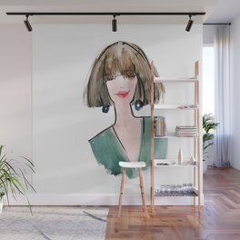 Lady in Green Wall Mural