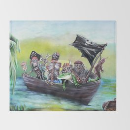 Pirate Booty Beach Throw Blanket