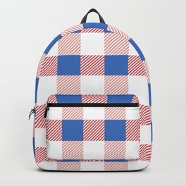 Pink and Blue Country Plaid Design Backpack